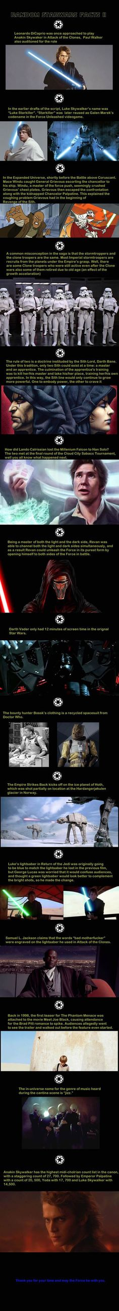 Some Star Wars facts to start your day off:
