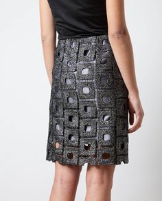 Love the stitch pattern, the shade of gray, the effect as a skirt, everything.