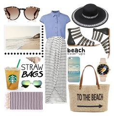 """""""Stylish beach day"""" by apostolic-swag ❤ liked on Polyvore featuring New Look, Ødd., Straw Studios, Turkish-T, Fendi, Casetify and Kate Spade"""