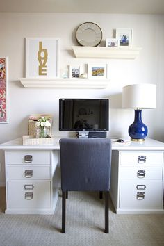 Client Reveal: Preppy Home Office