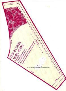 Minha caixinha de flor: molde tanga renda inteira