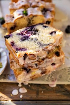 Dessert Bread, Dessert Bars, Dessert Recipes, Sweet Desserts, Breakfast Recipes, Lemon Layer Cakes, Side Dishes For Bbq, Blueberry Jam, Summer Cakes