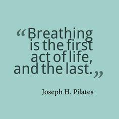 Joseph Pilates, and the quintessential truth of breathe. www.thepilatesflow.com.sg More