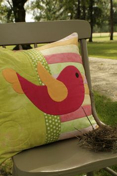 Twitter quilted pillow!