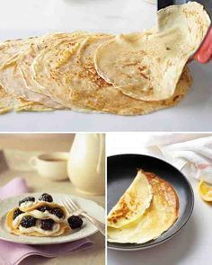 Basic Crepes . . . 1-3/4 cups all-purpose flour; 1/2 teaspoon coarse salt; 2 cups whole milk, room temperature, plus more if needed; 3 large eggs, room temperature; 2-1/2 ounces (5 tablespoons) unsalted butter, melted, plus more for skillet