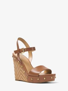 aafe6a748a14 Michael Michael Kors Ellen Leather Wedge Leather Wedges