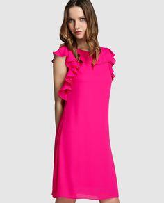 Vestidos casuales color fucsia