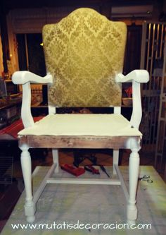 Print Friendly and PDF webpages Garage House, Recycled Furniture, Rocking Chair, Dining Chairs, Recycling, Home Decor, Ideas Para, Chair Upholstery, Wooden Crafts