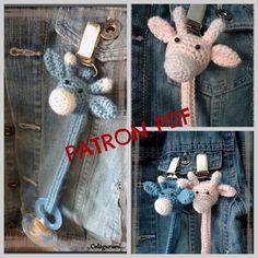 Klicke um das Bild zu sehen.  Patron tutoriel attache tétine au crochet amigurumi modèle girafe (pattern) - #Amigurumi #Attache #au #crochet #girafe #Modèle #Patron #PATTERN #tétine #Tutoriel