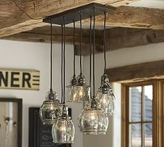 Love it! for the dining room? - Chandeliers, Wrought Iron & Bronze Chandeliers   Pottery Barn