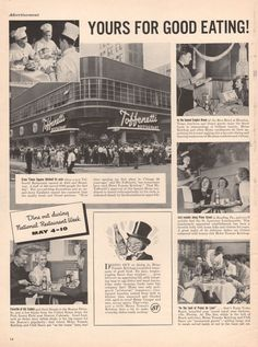 1942 Heinz Ketchup print ad Toffenetti Restaurant by Vividiom, $8.00