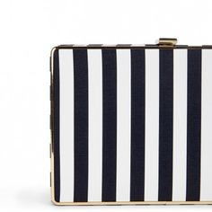 Stripe Box Clutch