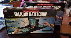 Electronic Talking Battleship Board Game 1989 Milton Bradley 4750 for sale online Battleship Game, Milton Bradley, Group Games, Game Night, Nerd Stuff, It Works, Play, Electronics, Vintage