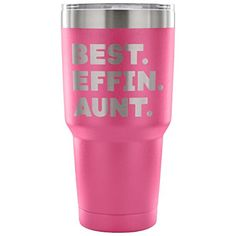 ArtsyMod BEST EFFIN AUNT Premium Vacuum Tumbler, PERFECT FUNNY GIFT for Your Favorite Aunt from Niece, Nephew! Humorous Gift, Attractive Water Tumbler, 30oz. (Pink) #ArtsyMod #BEST #EFFIN #AUNT #Premium #Vacuum #Tumbler, #PERFECT #FUNNY #GIFT #Your #Favorite #Aunt #from #Niece, #Nephew! #Humorous #Gift, #Attractive #Water #(Pink)