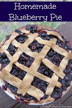 Homemade Blueberry Pie Recipe!