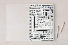 back to school shopping: A very cool personalized doodle notebook with your child's name on the front.