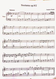 Özel Piyano Dersi: Nocturne OP 9/2 Chopin Piyano Notaları