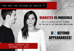 Diabetes is invisible.