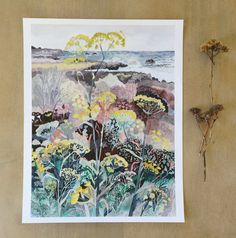 West Coast Wild Fennel Archival Print by MichelleMorinArt on Etsy, $20.00