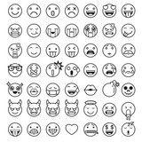 Vector: Emoji emoticons symbols icons set. Vector Illustrations