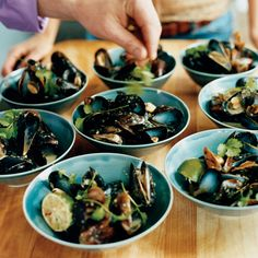 Tyler Florence likes making this one-pot dish for parties because it requires so little cleanup. He simply steams plump mussels in lager, then tosses ...