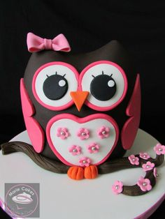 Buho pastel, Owl cake