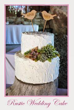 Rustic Wedding Cake Rustic Wedding, Cake Decorating, Wedding Cakes, Birthday Cake, Food, Wedding Gown Cakes, Birthday Cakes, Meal, Wedding Pie Table