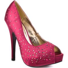 Luichiny Troop Pers, Fuschia Satin If you've always loved the sleek satin designs from Luichiny then you'll love this glitzy peep toe. Troop Pers showcases a l Bridesmaid Shoes, Prom Shoes, Wedding Shoes, Chic Wedding, Dream Wedding, Wedding Dresses, Satin Pumps, Peep Toe Pumps, Stiletto Heels