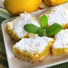 "White Chocolate Lemon Bars | ""I made this just as it was written. They came out delicious. My brother would have ate the whole pan if his diet would have let him!"""