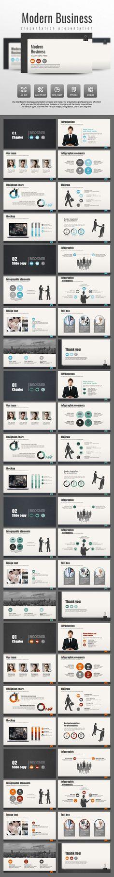 Modern Business PowerPoint Template #design #slides Download: http://graphicriver.net/item/modern-business/14032353?ref=ksioks