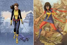 From Kitty to Kamala: The Journey That Turned Ms Marvel into This Generation's Hero  Read More: From Kitty to Kamala: The Heroes Who Made Ms. Marvel   http://comicsalliance.com/kitty-to-kamala-ms-marvel-teen-heroes/?trackback=tsmclip
