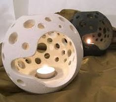 Resultado de imagen para clay candle holder