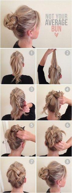 5 Super Easy Updo Hairstyles Tutorials