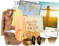 """""""go for summer adventure"""" by ivannnafebrissa ❤ liked on Polyvore"""