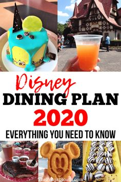 Everything you need to know about the Disney Dining Plan What's included, cost, restaurants, is it worth it, and more. Ultimate guide to the Disney meal plan. Have you heard about the Disney Dining Plan 2020 and are wondering how it works? Best Disney World Restaurants, Disney World Hotels, Disney World Food, Walt Disney World Vacations, Disney Worlds, Disney Travel, Disney World Hacks, Disneyland Vacation, Orlando Vacation