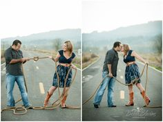 engagement pictures.. Tying the knot