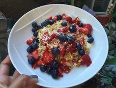 """#mykindofmorning the Greek Gods® honey strawberry yogurt is my jam"" #instagramfan"