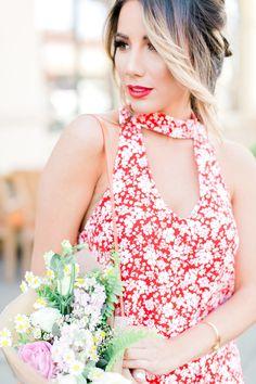 Fresh and feminine head shot inspiration. Spring Fever on Fashionborn, photos by Esmeralda Franco