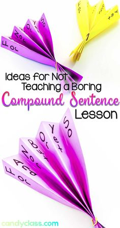 Fanboys Fans for teaching compound sentences