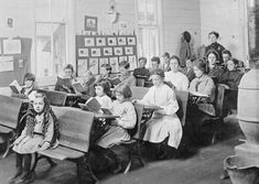 One-room school, Marion County, WV  about 1900.