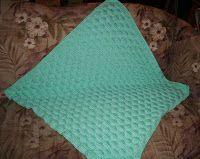 Puffy Basketweave Baby Blanket