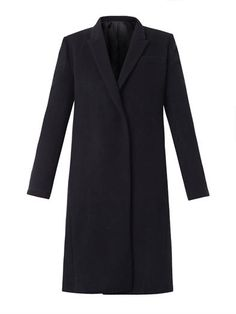 Silk and wool-blend Chesterfield coat | Freda | MATCHESFASHION...