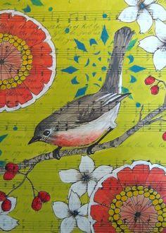 yellow floral bird