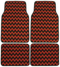 Chevron Red Black 4 Pc Floor Mat Set from Car Decor Products. Saved to Coordinating Car Accessories for Girls. Car Carpet, Auto Carpet, Beauty Routine Schedule, Bmw Wallpapers, Car Accessories For Women, Co Design, Car Floor Mats, Black Chevron, Boho