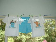 Boys' appliqued t-shirts and shorts.  Contact me for custom orders:  Itty Bitty Boutique:   https://www.facebook.com/pages/Itty-Bitty-Boutique/154670427890966.
