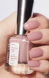 Dielle Nail Colour: Secret Mercy- Part of the Muted Tones Collection,  this creamy pink with a lila undertone is sophisticated and scrumptious. All of our products are free of toxic ingredients.