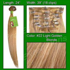 #22 Golden Blonde - 24 inch