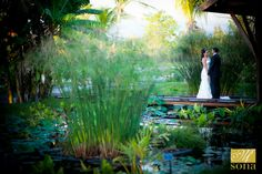 Exotic wedding setting in our Asian Garden (can you believe this is in Naples, FL?) - photo by #BethInsalaco