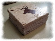 Deer head coasters--Stocking stuffer for the Mr.!