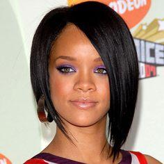 Best Bob's for Oval Faces Curly Hair | Rihanna Hairstyle for oval face shapes Rihanna Hairstyles, Latest Hairstyles, Cool Hairstyles, Hairstyle Ideas, Hairstyle Short, Beautiful Hairstyles, Hairstyle Pictures, Haircut Images, Haircut Pictures